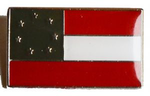 Confederate 1st National Flag Badge